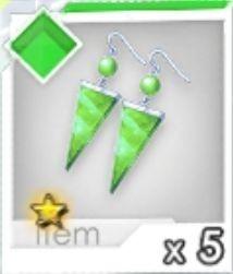 進化ピアス(緑)R1