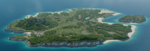 ミッション2島全体