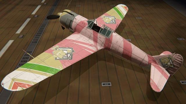 五式戦塗装:桃色の雛嵐