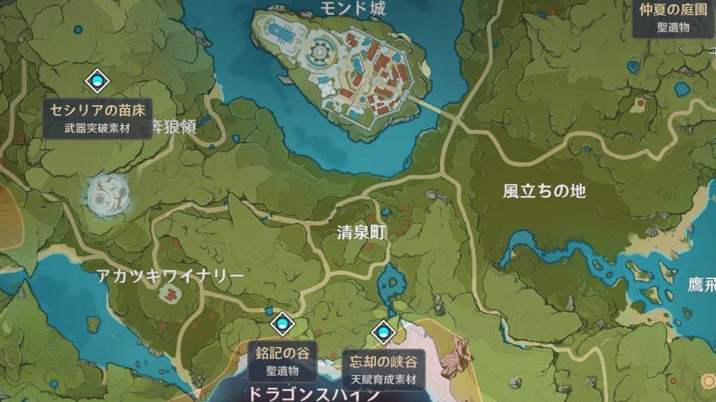 忘却の峡谷MAP