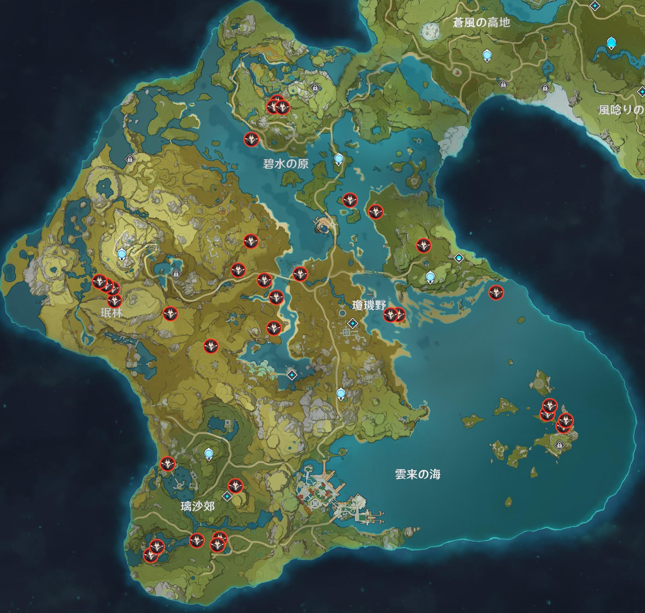 討伐マップ