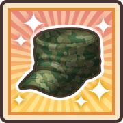 nolink,エースの迷彩帽