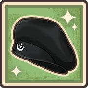 上質なベレー帽