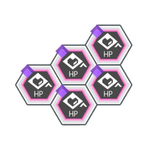 紫属性HPアップ+200