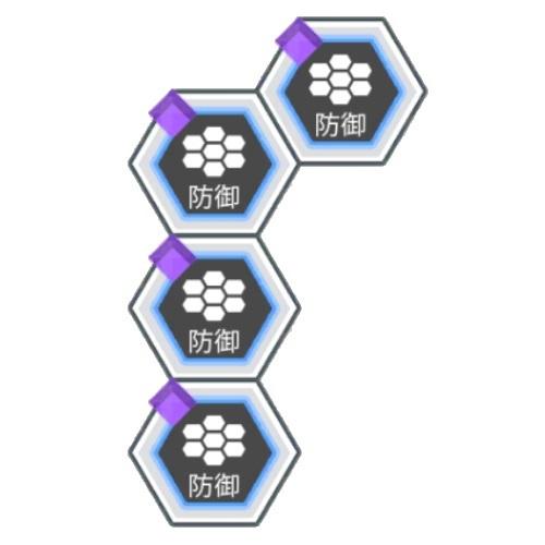紫属性ダメージ軽減3%
