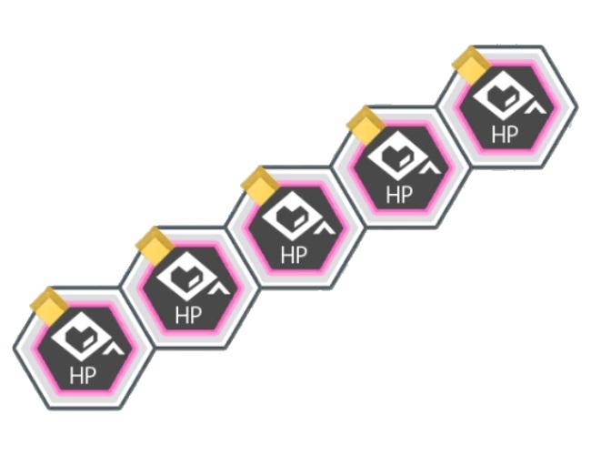 黄属性バトルACTのHPが200アップ