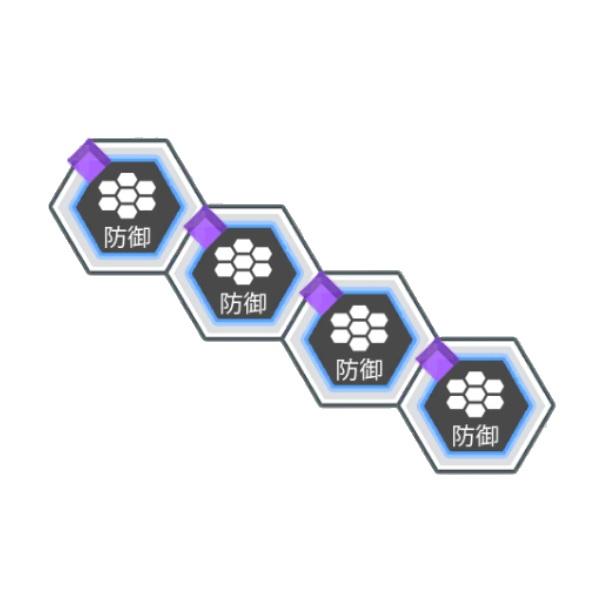 受ける紫属性ダメージを2%軽減