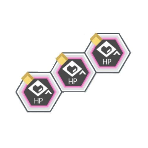 黄属性バトルACTのHPが100アップ