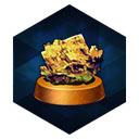 青銅台座の黄鉱石