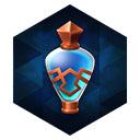 青銅瓶の青ドリンク
