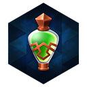 青銅瓶の緑ドリンク