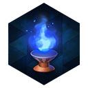 青銅燭台の青灯火