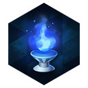 白銀燭台の青灯火
