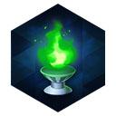 白銀燭台の緑灯火