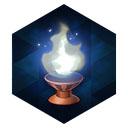 青銅燭台の白灯火