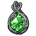 緑の宝石のお守り